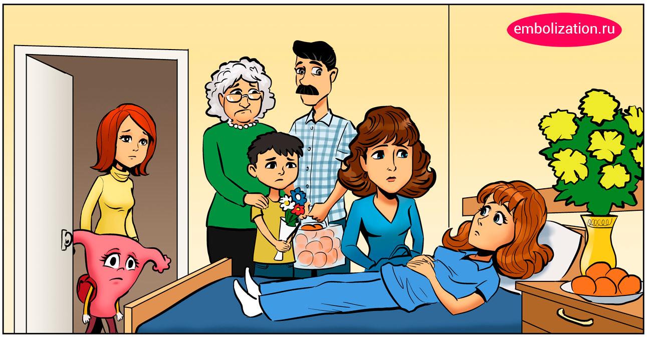 после операции на миоме матки