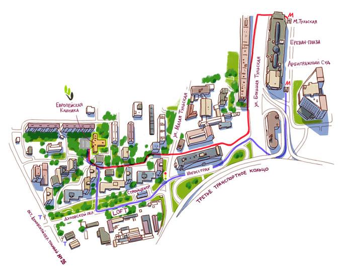 карта проезда в клинику лечения миомы матки